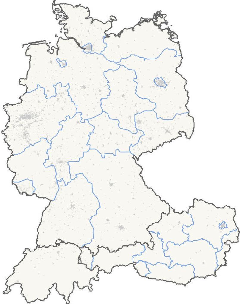 Karte Süddeutschland österreich Schweiz.Karte Der Eingetragenen Projekte